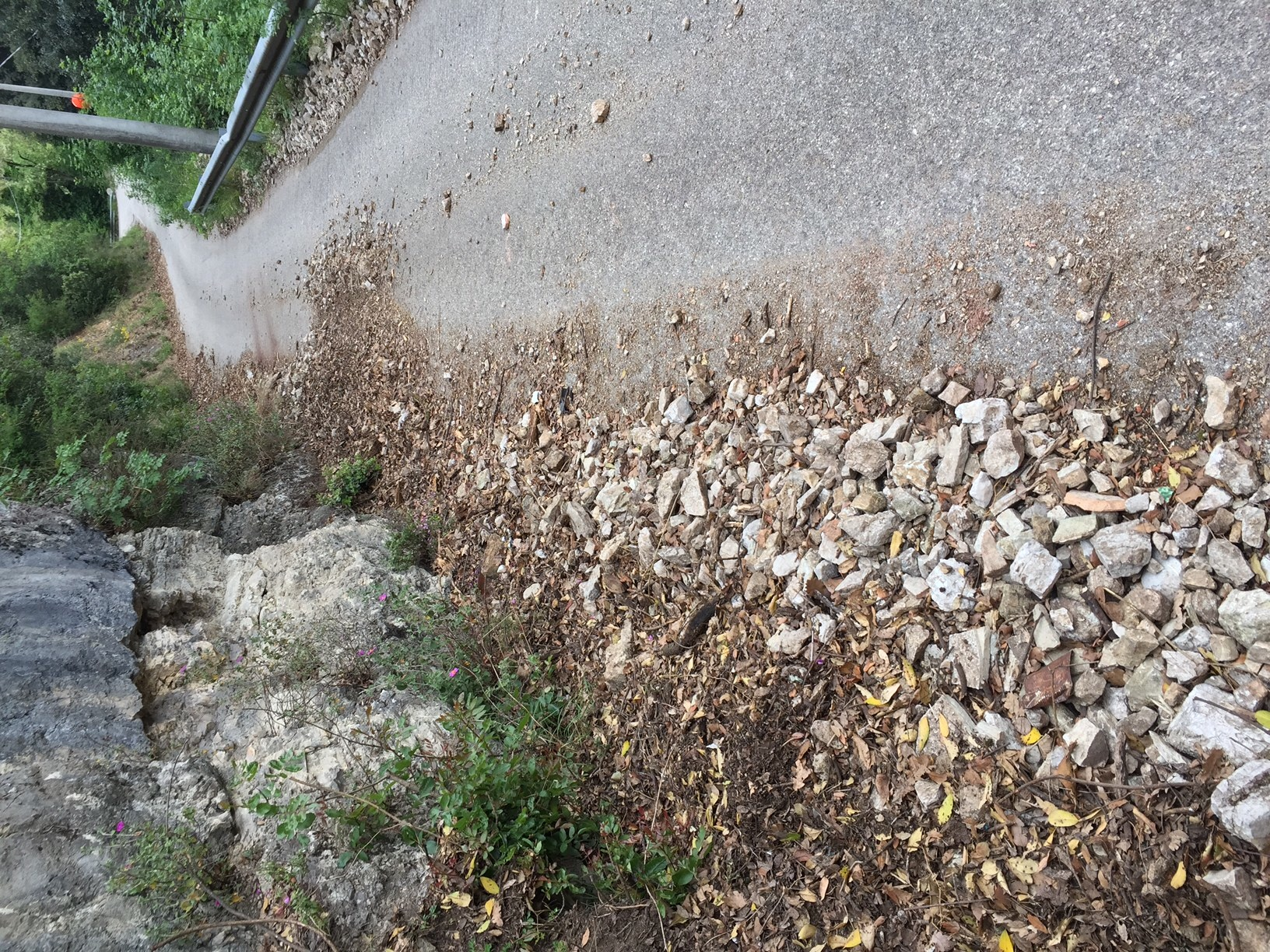 Cadono sassi sulla strada per Cecalocco e Battiferro / La