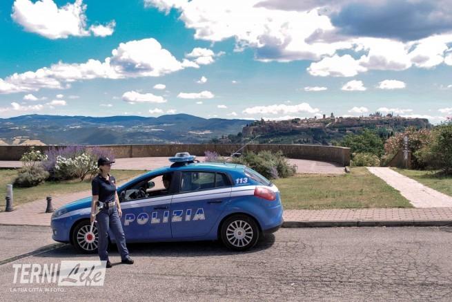 Un posto di controllo ad Orvieto