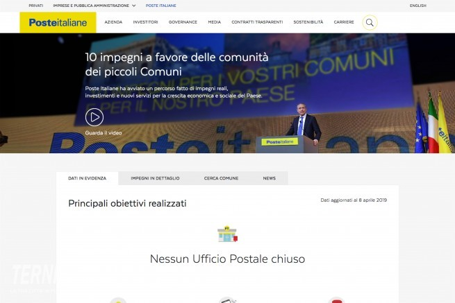 Poste Italiane per i Piccoli Comuni