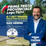 Salvini a San Gemini alla festa Lega