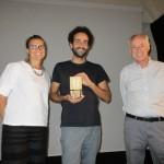 la giornalista russa Vera Schcherbakova il regista Davide Calvaresi e il direttore artistico del Calvi Festival Francesco Verdinelli 1