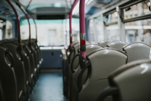 Interior of a public bus transport