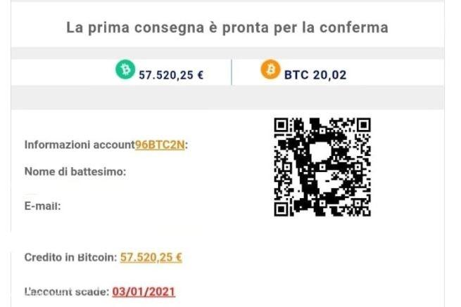 consegna bitcoin